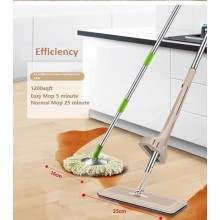 2016 Hands Free Wash Self-Wringing Microfiber Lazy Flat Floor Spin Mop Multifunction 360 Degree Swivel