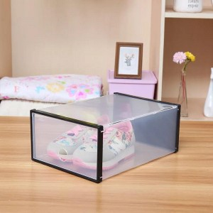 [PROMOSI] Transparent Plastic Thick Shoe Storage Box Men And Women Kotak kasut