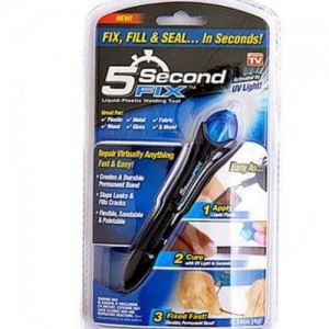 5 Second Fix As Seen On Tv Uv Light Plastic Adhesive Repair Kit