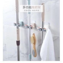 Self Adhesive No Drilling Hanger Hook Magic Wall Mounted Mop & Broom Holder