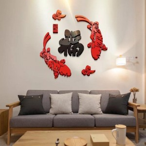 3D Acrylic Wallpaper Chinese New Year Decoration (A) 福
