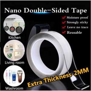 Nano Magic Tape Traceless Washable Adhesive Double Sided Reusable Clear Sticky Power Tape