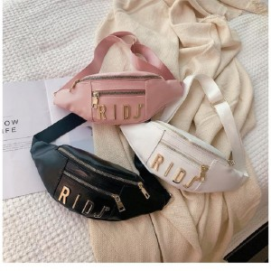 PREMIUM BELT NEW POP FASHION DESIGNATED PU ZIPPER POUCH ADJUSTABLE WAIST BAG STRAP BELT BAG S005