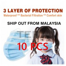 [EXPRESS SHIPPING MALAYSIA] 10PCS 3 PLY MASK FOR CHILDREN