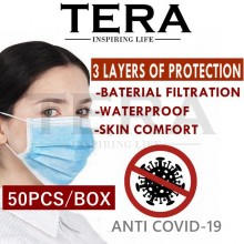 [EXPRESS SHIPPING MALAYSIA] 3 PLY MASK (50PCS/BOX) Earloop Disposable Face Mask