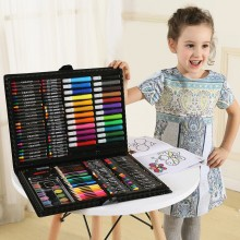 168pcs Kids Drawing Art Set Painting Pen Colour Pencils with Case
