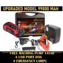 Powerful 69800Mah Upgrade Version and Durable Powerbank jumper @ PACKAGE B WITH PUMP