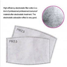 10 Pcs PM2.5 Mask Filter 5 Layers of Activated Carbon Replaceable Gasket pads pm2 5 Child kids Masks Surgical Disposable