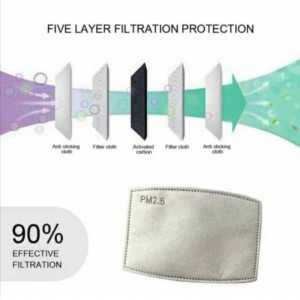1 PCS PM2.5 Mask Filter 5 Layers of Activated Carbon Replaceable Gasket pads pm2 5 Child kids Masks Surgical Disposable
