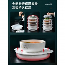 Upgraded Home Kitchen Food Cover Transparent Stackable Food Insulation  Dish Cover Dustproof