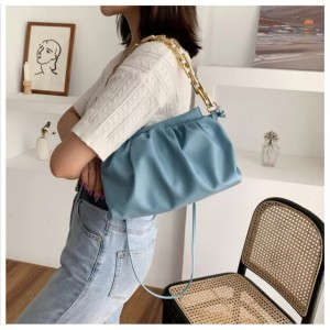 Cloud Candy Color Women Bags Chain Sling Bag Fashion Shoulder Crossbody Hobos Cloud Bags Casual Handbags Chain Totes Bag