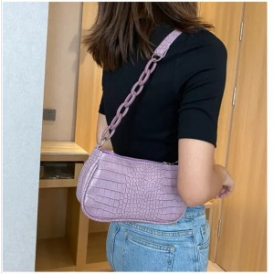 Hirin underarm Bag Women Single Shoulder Portable Crocodile Pattern Magic baguette Bag Woman Leather Handbags TKU 0028