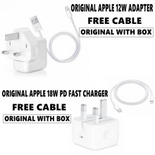 READY STOCKPeace X (FREE CABLE) ORIGINAL APPLE 12W USB POWER ADAPTER/18W POWER ADAPTER for iPhone iPod iPad
