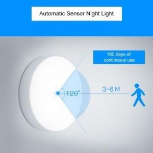 [MSIA STOCK] Rechargeable Sensor Night Light, Wireless Body Induction Lamp, Motion Sensor Light, USB charging LED Night