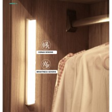 Motion Sensor Night Light LED Bar USB Rechargeable for Cabinet Corridor Bedroom Toilet Kitchen Stairs