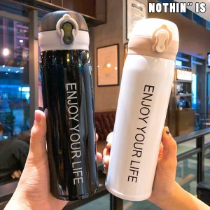 ORIGINAL EYL 500ml Simple Design 304 Stainless Steel Thermos Flask 500ml / Vacuum bottle / Thermal Flask / Thermos