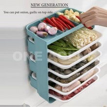 NEW 6 Layers Stackable Food Plate Rack Wall Mounted Steamboat Hot Pot Side Dish Plate Shelf Serving Organizer Platter