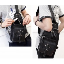 Korea Fashion PU leather Man Chest Bag(B)