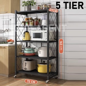UPGRADED Foldable and movable shelves/stainless steel rack (no installation required) /Kitchen shelves /oven rack