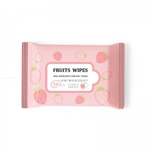 Wet Tissue 10pcs/pack - Baby wipes/ Food Wipes No alcohol Wipes No Fragrance Wipes