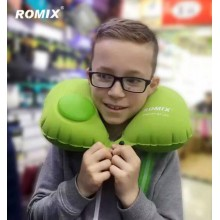 ROMIX U-shaped Travel Neck Pillow Inflatable Foldable Pillow